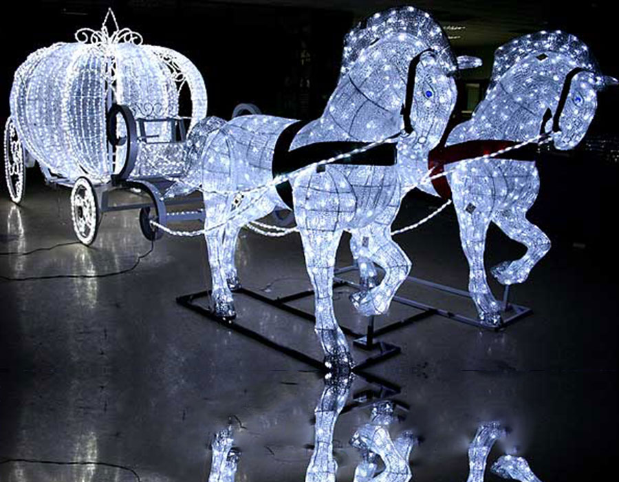 Üç Boyut At Balkabağı Tasarım Süsleme